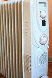 Eletric radiator heater with thermostat Stock Images