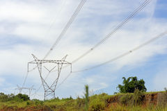 Eletric transmission tower Stock Photography
