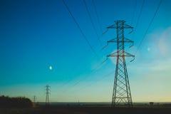 Eletrical network blue sky Stock Photography