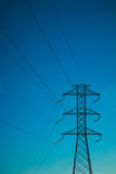 Eletrical network blue sky Royalty Free Stock Image