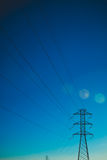 Eletrical network blue sky Royalty Free Stock Photography