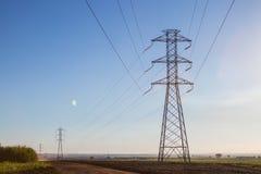 Eletrical network blue sky Stock Image