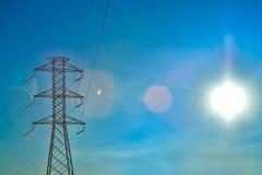 Eletrical network blue sky Stock Photo