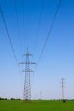 Eletricidade de alta tensão 3D Fotos de Stock Royalty Free