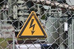 Eletricidade de alta tensão 3D Imagens de Stock