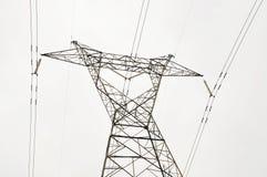 Eletricidade de alta tensão 3D Fotografia de Stock