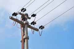 Eletricidade de alta tensão 3D Fotografia de Stock Royalty Free