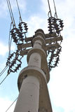 Eletricidade de alta tensão 3D Fotos de Stock