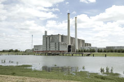 Eletricidade de IJsselcentrale Zwolle Foto de Stock Royalty Free