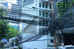 Eletricidade de Tailândia fotografia de stock