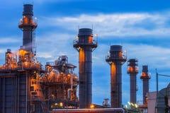 Eletricidade do central elétrica do ciclo combinado de gás natural que gera a estação Imagens de Stock