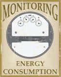 Eletricidade do controle do cartão Imagem de Stock Royalty Free