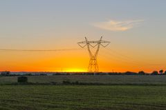 Eletricidade do poder Foto de Stock