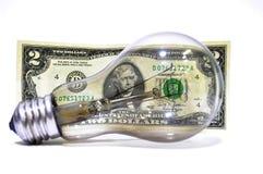 Eletricidade do preço Imagem de Stock Royalty Free
