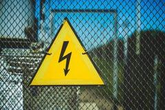 Eletricidade do símbolo Imagens de Stock Royalty Free