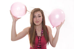 Eletricidade estática do balão Fotografia de Stock Royalty Free
