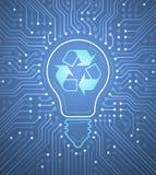 Eletricidade renovável Imagens de Stock