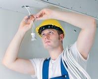 Eletricista certificado Imagem de Stock Royalty Free