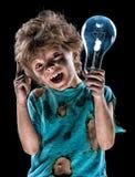 Eletricista pequeno engraçado Imagens de Stock Royalty Free