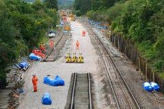 Eletrificação da estrada de ferro de Great Western Fotografia de Stock