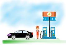 Eletro eletricidade móvel, cartaz super de alta tensão do negócio do sumário da qualidade ilustração royalty free