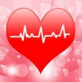 Eletro nas mostras do coração que batem o coração ou Fotografia de Stock Royalty Free