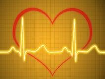 Eletrocardiograma, ecg, gráfico, traçado do pulso Fotografia de Stock Royalty Free