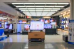 Eletronic百货商店被弄脏的背景 免版税库存图片