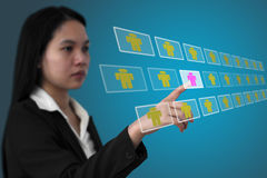 Eletronic recruitment Stock Images