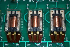 Electronics relays Royalty Free Stock Photography