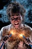 Elettricista pazzesco Fotografia Stock Libera da Diritti
