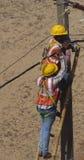 Elettricisti indiani su lavoro Immagine Stock Libera da Diritti
