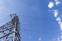 Elettricità ad alta tensione Fotografia Stock Libera da Diritti