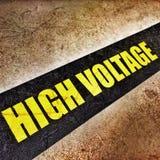 Elettricità ad alta tensione 3D Fotografia Stock Libera da Diritti