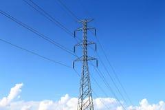 Elettricità ad alta tensione 3D Fotografie Stock