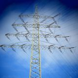 Elettricità, albero di natale Immagine Stock Libera da Diritti