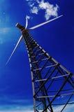 Elettricità del generatore a vento Immagini Stock Libere da Diritti