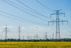 Elettricità del paesaggio Immagine Stock