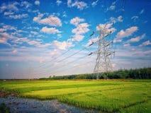 Elettricità dell'iarda di agricoltura Immagine Stock Libera da Diritti