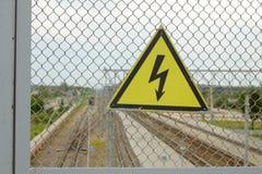 elettricità di Segno-cautela Immagine Stock Libera da Diritti