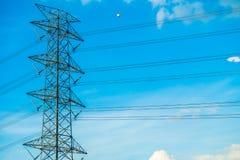 Elettricità e alta tensione Fotografie Stock