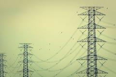 Elettricità e alta tensione Immagine Stock Libera da Diritti