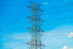 Elettricità e alta tensione Immagini Stock Libere da Diritti