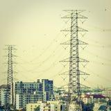 Elettricità e alta tensione Fotografia Stock
