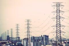 Elettricità e alta tensione Immagini Stock