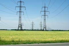 Elettricità e campi Immagine Stock