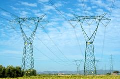 Elettricità e natura Immagini Stock Libere da Diritti