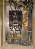 Elettricità elettrica di inizio o di arresto del pannello Fotografia Stock