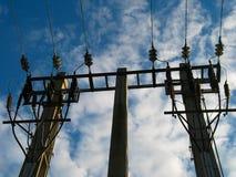 Elettricità Pali Immagini Stock Libere da Diritti