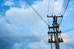 Elettricità Palo immagini stock libere da diritti